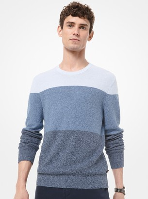 Michael Kors Striped Viscose-Blend Sweater