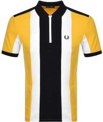 Fred Perry Bold Stripe Polo T Shirt Yellow