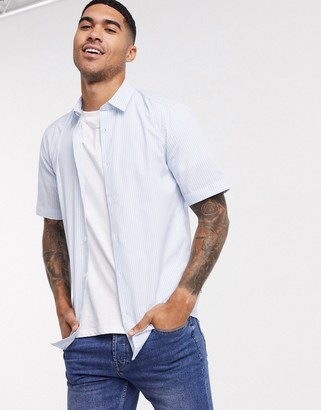 ONLY & SONS thin stripe shirt with short sleeve