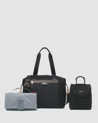 Storksak Women's Black Nappy bags - Stevie Luxe Scuba Nappy Bag - Size One Size, Unisex at The Iconic