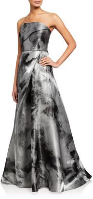 Rene Ruiz Collection Asymmetric Bustier A-Line Gown