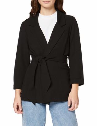 New Look Petite Women's P T Scuba Crepe Belted Blazer Suit Jacket