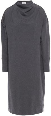 Brunello Cucinelli Bead-embellished Melange French Cotton-blend Terry Dress