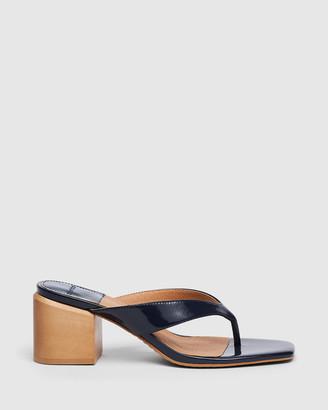 cherrichella - Women's Navy Open Toe Heels - Cedar Mules - Size One Size, 38 at The Iconic