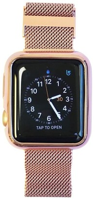 Funktional Wearables Apple Watch Face Cover and Band All-in-One in Rose Gold