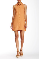 Lush Scalloped Shirt Dress