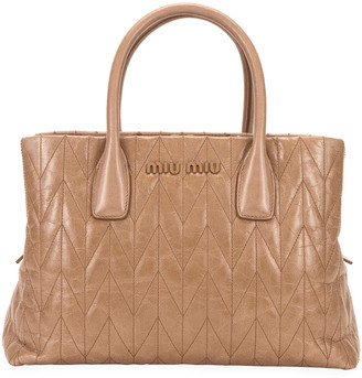 Miu Miu Small Vitello Shine Shoulder Bag