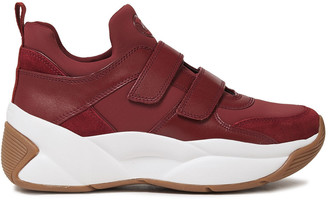 MICHAEL Michael Kors Leather, Suede And Scuba Sneakers