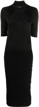 Cushnie Cut-Out Neck Pencil Dress