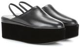 Fendi Platform Leather And Velvet Sandals