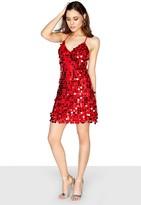 Girls On Film Sequin Strappy Dress