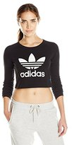 adidas Women's Cropped Long-Sleeve Top