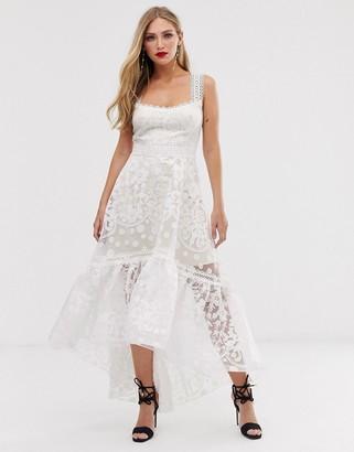 Bronx And Banco & Banco Mariana lace maxi dress-White