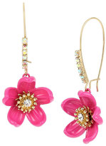 Betsey Johnson Tropical Punch Flower Earrings