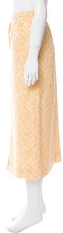 Chanel Abstract Print Midi Skirt