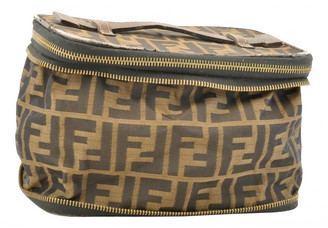 Fendi Brown Cloth Travel bags