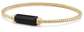David Yurman Barrels Bracelet with Diamonds & Black Onyx in 18K Gold