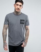 The North Face Fine T-Shirt Square Logo in Mid Gray Marl