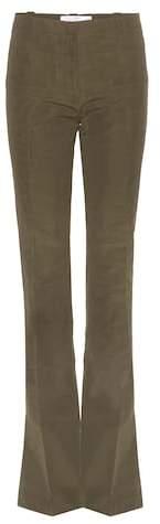 Altuzarra Serge flared cotton-blend trousers