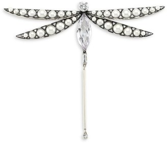 Kate Spade Imitation Pearl & Cubic Zirconia Dragonfly Brooch