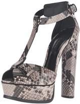 Casadei Women's Printed Python Patent Sandal Platform