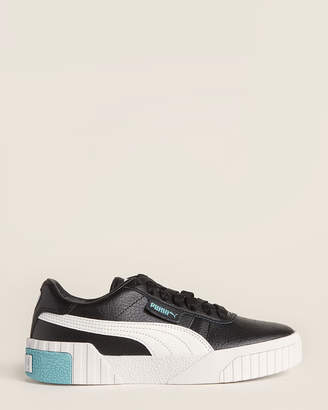 Puma Kids Girls) Black & Milky Blue Cali Jr Low-Top Sneakers