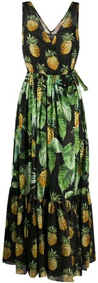 Twin-Set Pineapple Print Dress