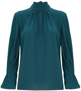 Emilia Wickstead Venice Neck-Tie Blouse