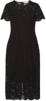 Diane von Furstenberg Carly Guipure Lace Dress - Black