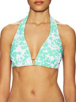 Shoshanna Floral Halter Bikini Top
