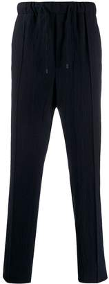 Fendi straight-leg drawstring trousers