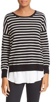 Joie Women's Luus Layered Look Stripe Wool & Cashmere Sweater