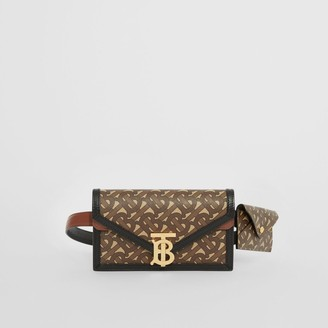 Burberry Belted Monogram E-canvas TB Envelope Clutch