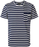A.P.C. striped pocket detail T-shirt