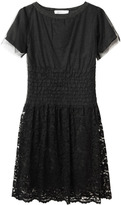 Sacai Luck / Dress With Lace Overlay