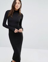 Wal G Midi Dress With High Neck