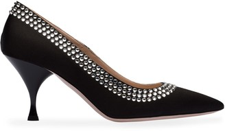 Miu Miu Crystal-Embellished 75mm Pumps