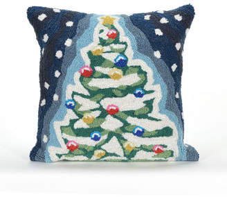 "Liora Manné Frontporch Xmas Tree Indoor, Outdoor Pillow - 18"" Square"