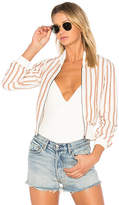Tularosa x REVOLVE Payson Bomber in Tan. - size L (also in M,S,XL,XS)