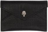 Alexander McQueen Black and Gunmetal Skull Envelope Card Holder