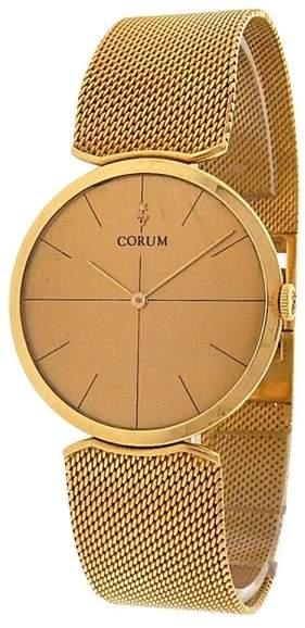Corum 18K Yellow Gold Quartz Champagne 31mm Womens Watch
