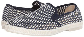 Rivieras Napoles (Navy Print) Men's Slip on Shoes