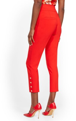 New York & Co. Tall Button-Accent Straight Slim-Leg Ankle Pant - 7th Avenue