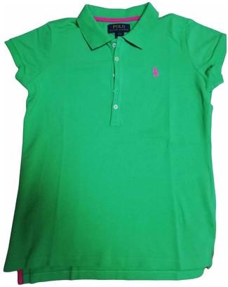 Polo Ralph Lauren Polo classique manches courtes Green Cotton Top for Women