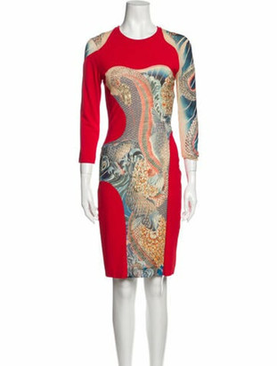 Alexander McQueen 2011 Knee-Length Dress Red