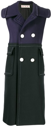 Marni Double Breasted Sleeveless Coat