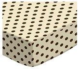SheetWorld Extra Deep Fitted Portable / Mini Crib Sheet - Polka Dots Cream Woven - Made In USA