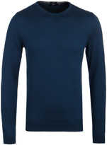 Boss Fines-1 Teal Crew Neck Knit Sweater