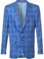 Isaia classic checked blazer - men - Silk/Linen/Flax/Wool - 54