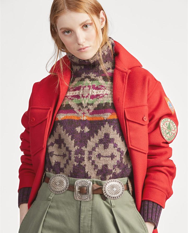 Ralph Lauren Leather Concho Belt